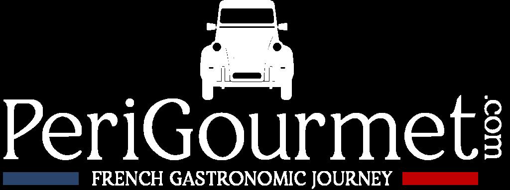 Logo blanc Perigourmet Circuit Gastronomique en Dordogne à Sarlat Périgord Noir